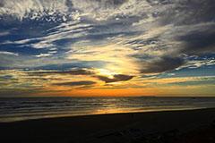 coucher de soleil sur l'océan petit format